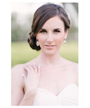 Bride with heavily-lined eyes and nude lips