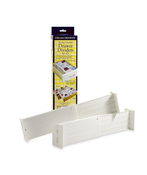 Expandable Spring Loaded Drawer Dividers (Set of 2)