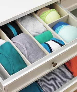 Drawer with inserts to section off different items