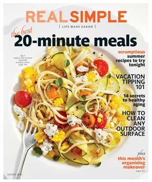 Real Simple August 2013