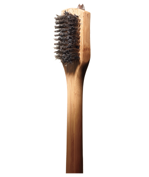 Stainless-steel grill brush