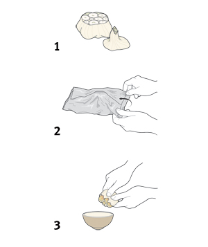 Illustration: how to roast a bulb of garlic