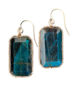Labradorite Cube earrings