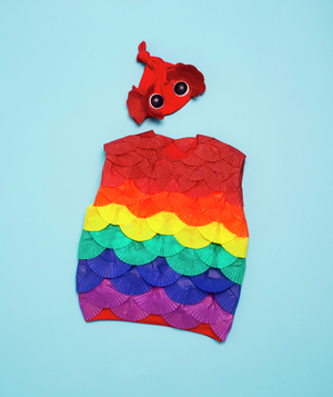 Rainbow Fish costume how-to