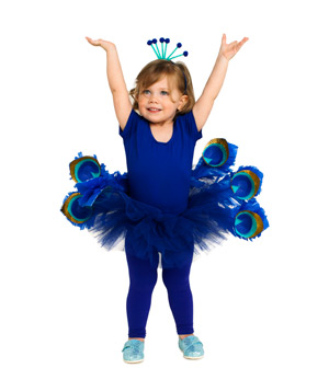 Cobalt Peacock Costume