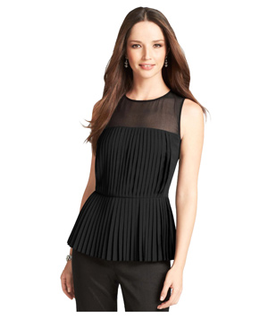 Ann Taylor Pleated Peplum Top