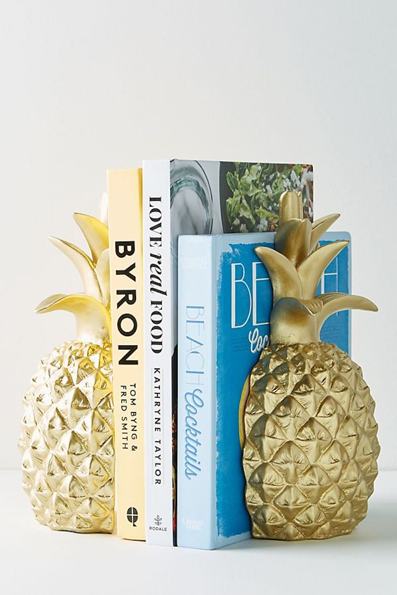 Anthropologie Pineapple Bookends in Gold