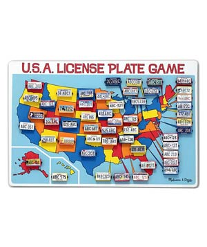 Melissa and Doug License Plate Travel Game
