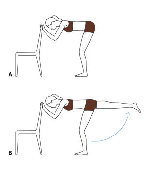 Ballet barre fold-overs