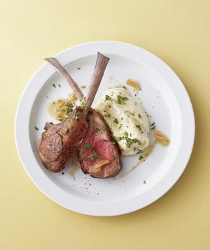 Lamb Chops and Parsnip Puree With Coriander Brown Butter