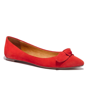 Madewell The French Knot Pointy Skimmer in Suede