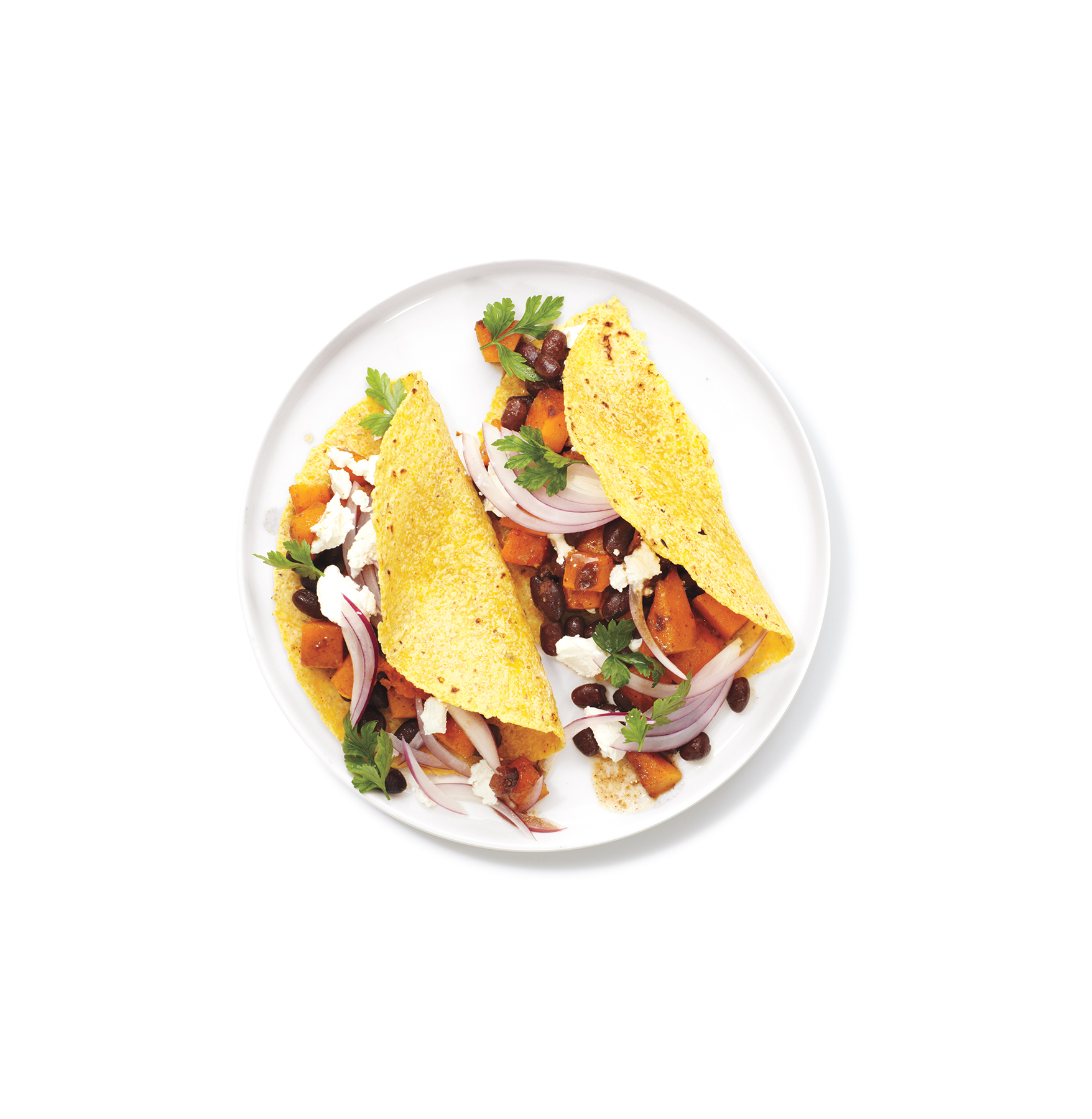 Butternut Squash and Bean Tacos