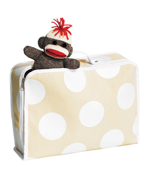 Dotted suitcase