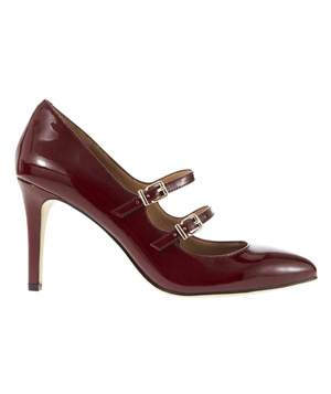 Ann Taylor Jessy Double Buckle Patent Leather Heels