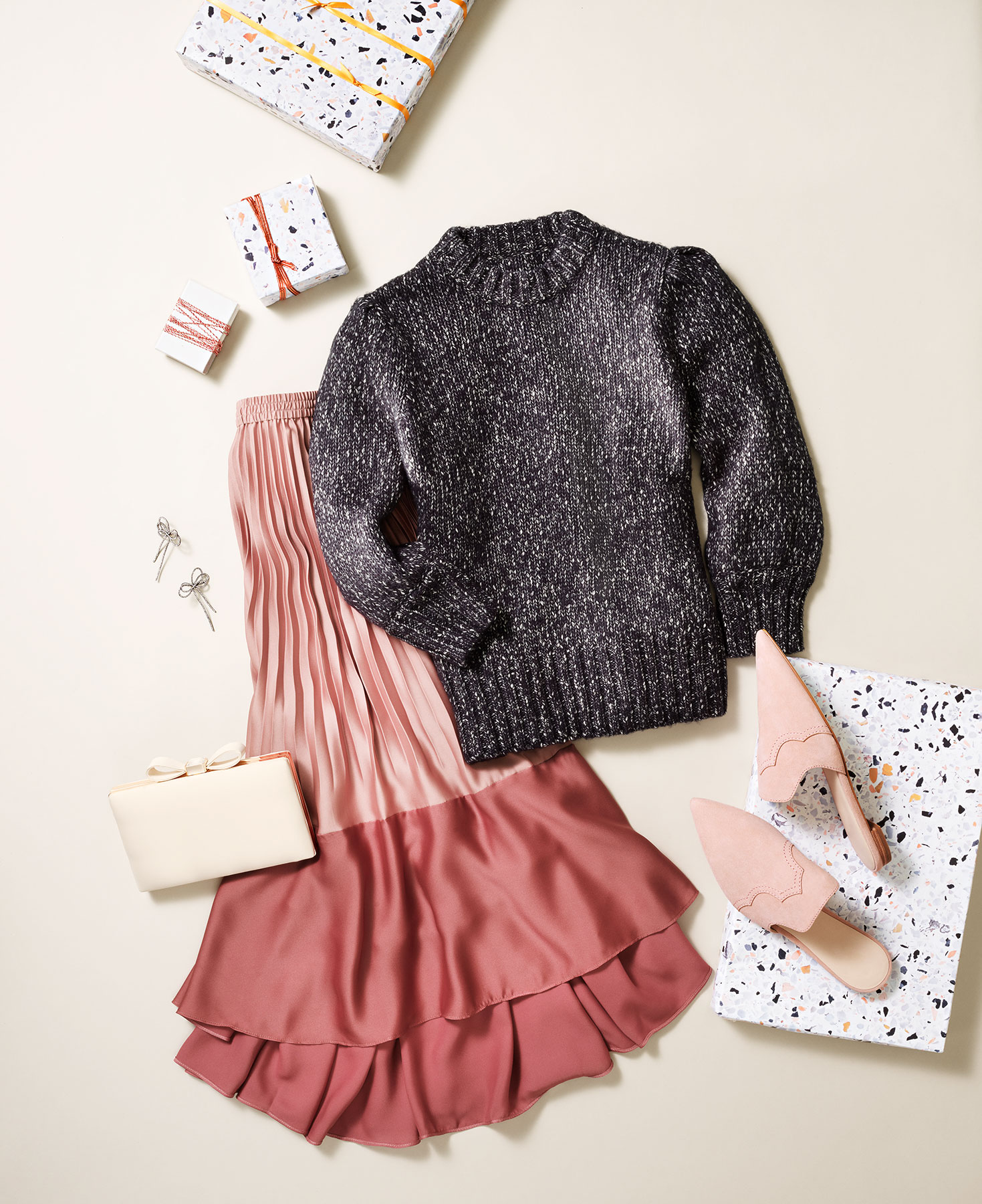 Christmas Party Outfits: Pretty in Pink