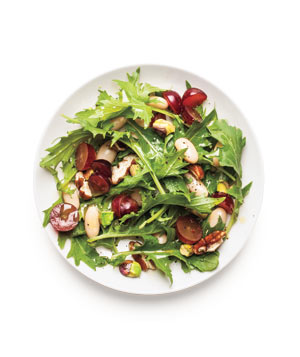 Greens and Bean Salad With Grapes