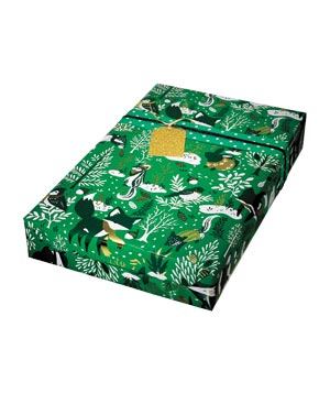 Forest Friends gift wrap