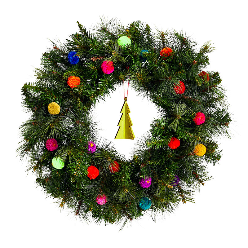 Christmas Wreath Ideas: Tactile & Colorful