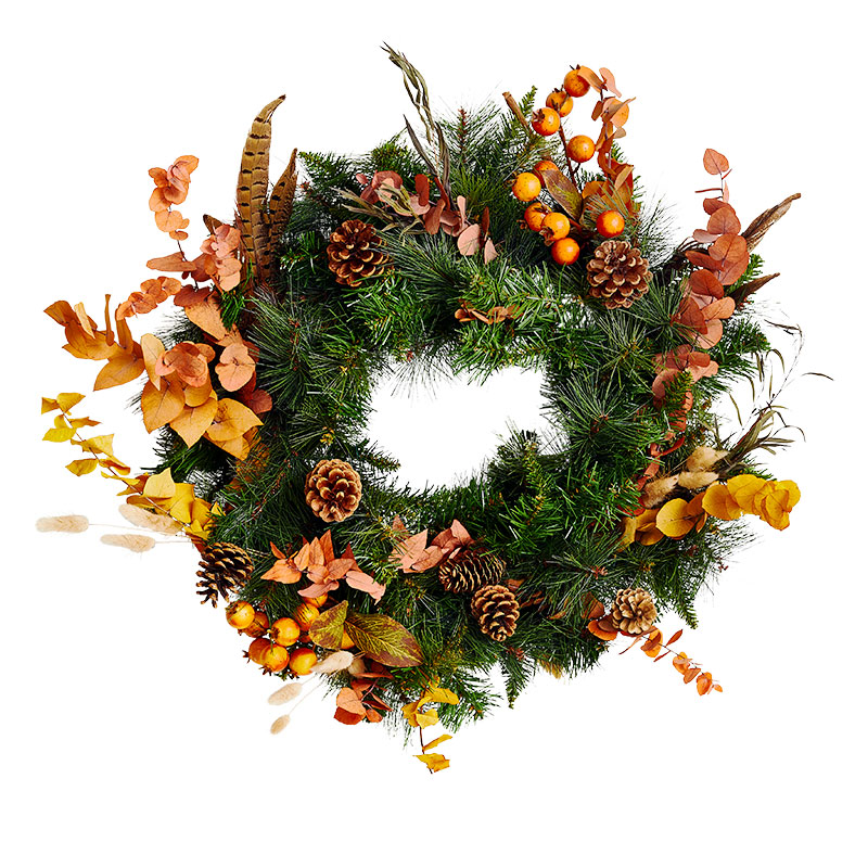 Christmas Wreath Ideas: Textured & Vibrant