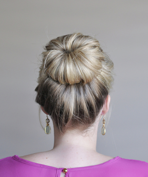 Perfect bun hairstyle step 5