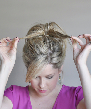 Perfect bun hairstyle step 2