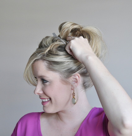Perfect bun hairstyle step 4
