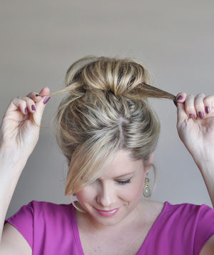 Perfect bun hairstyle step 6