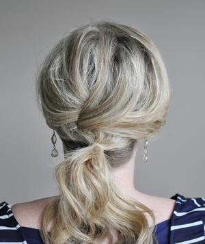 Cute ponytail hairstyle step 4