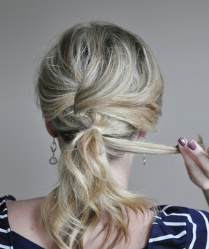 Cute ponytail hairstyle step 5