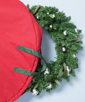 Wreath in canvas storage bag