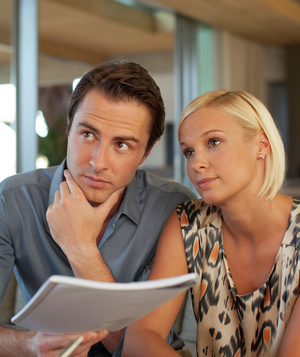 Couple with financial advisor