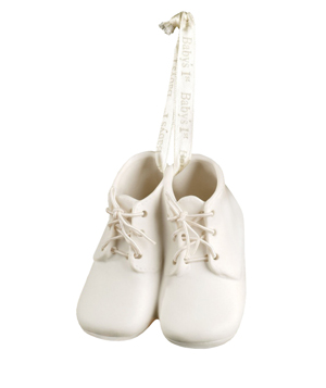 Baby Bootie First Christmas Ornament Keepsake