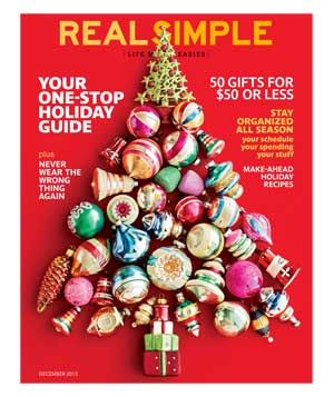 Real Simple December 2013 Cover