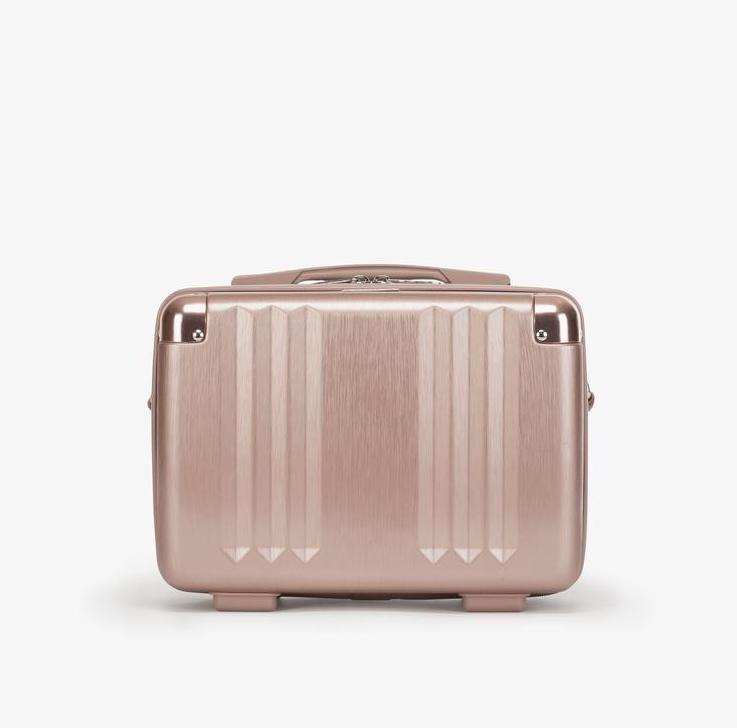 rose gold hard vanity case for luggage