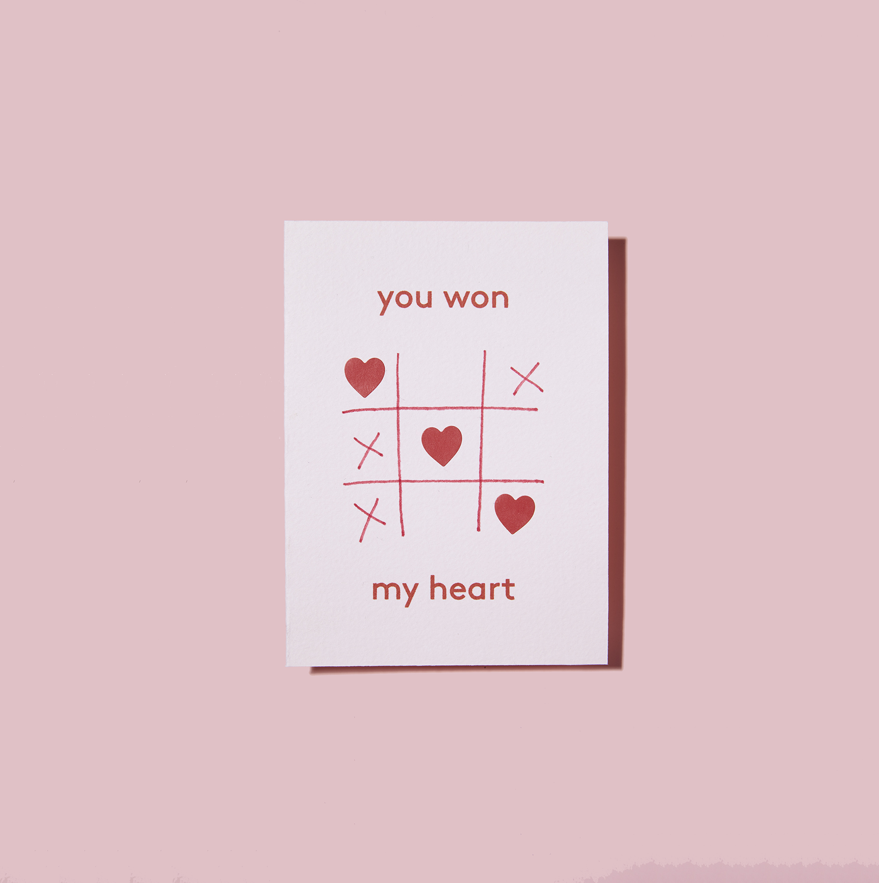 You Won My Heart Valentine's Day Card