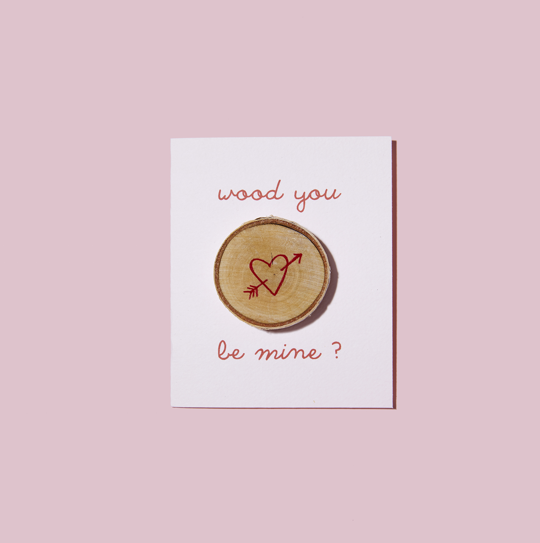 Wood You Be Mine homemade Valentine cards