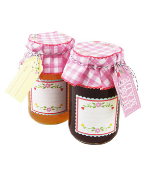 Floral and Gingham Jar Label Kit