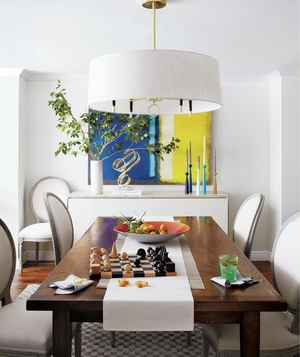 On Dining Room Tables, Chandeliers, and More