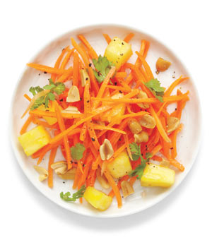 Carrot Slaw With Pineapple and Peanuts