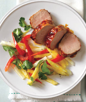 Glazed Pork Tenderloin With Pineapple Slaw