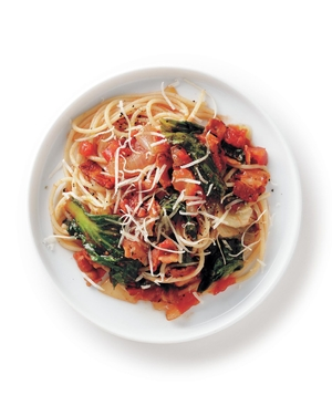 Bacon and Escarole Spaghetti