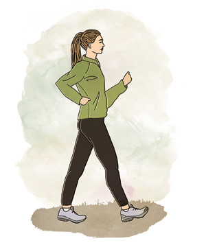 Illo: woman walking
