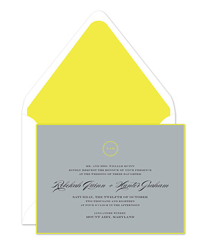Fleuro Citron Invitation