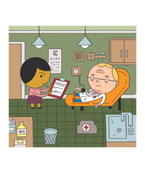 Illo: doctor as patient