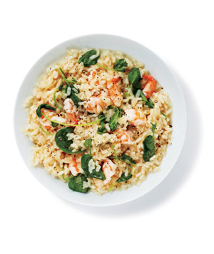 Risotto With Shrimp and Watercress