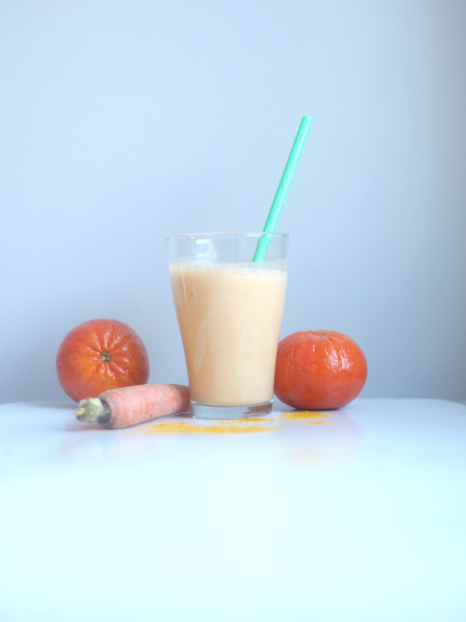 Tangerine, Carrot, and Turmeric Smoothie