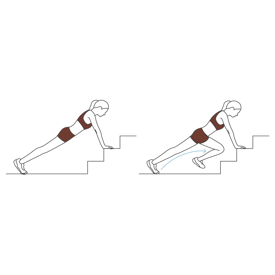 Stairway Workout: mountain climber