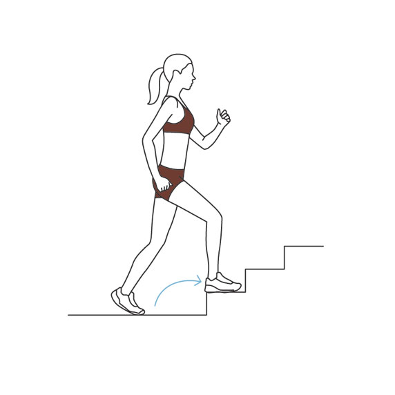 Stairway Workout: varied pacing