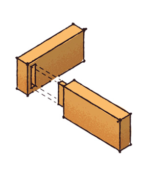 Mortise-and-tenon joint