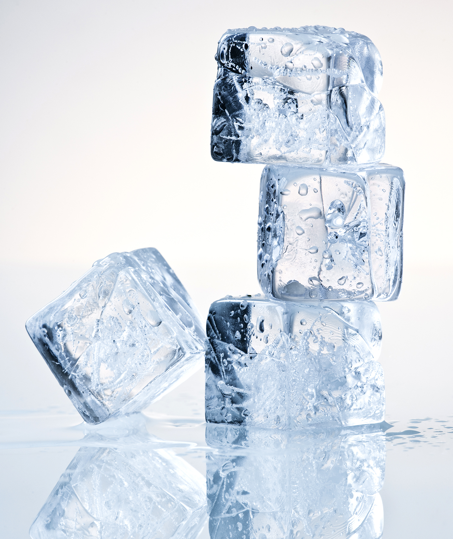 Stacked ice cubes